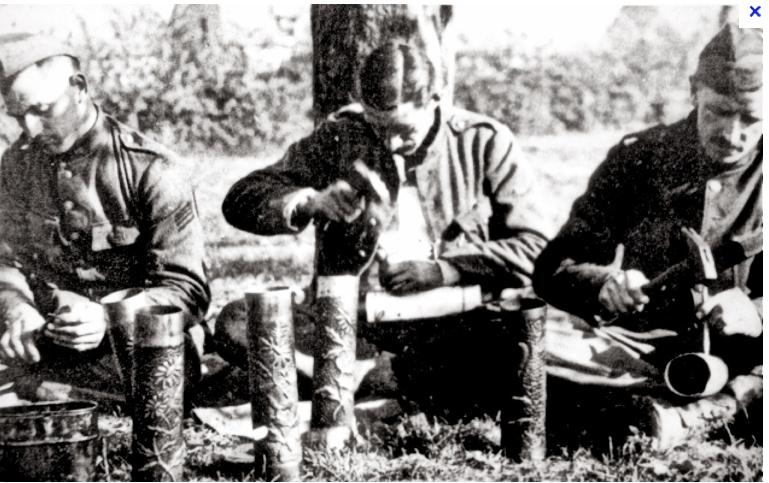 1914-1918 artisanat des tranchées